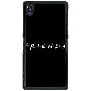 1 Crazy Designer FRIENDS Back Cover Case For Sony Xperia Z1 C470442