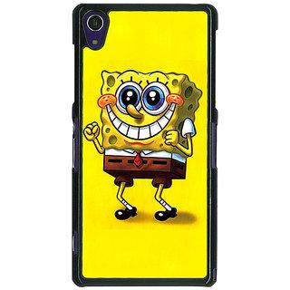 1 Crazy Designer Spongebob Back Cover Case For Sony Xperia Z1 C470470