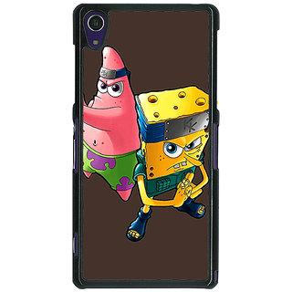 1 Crazy Designer Spongebob Patrick Back Cover Case For Sony Xperia Z1 C470471