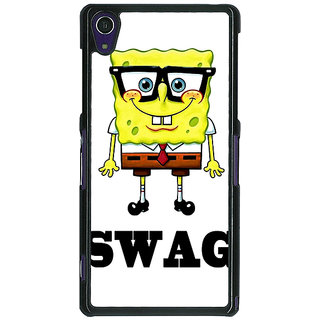 1 Crazy Designer Spongebob Back Cover Case For Sony Xperia Z1 C470473