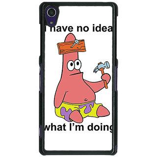 1 Crazy Designer Spongebob Patrick Back Cover Case For Sony Xperia Z1 C470474
