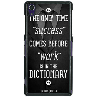 1 Crazy Designer SUITS Quotes Back Cover Case For Sony Xperia Z1 C470476