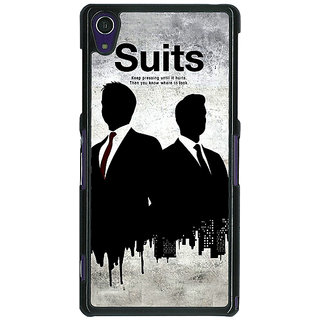 1 Crazy Designer SUITS Harvey Spector Back Cover Case For Sony Xperia Z1 C470478