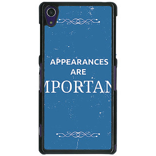 1 Crazy Designer SUITS Quotes Back Cover Case For Sony Xperia Z1 C470480