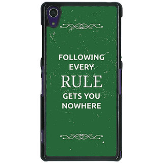 1 Crazy Designer SUITS Quotes Back Cover Case For Sony Xperia Z1 C470486