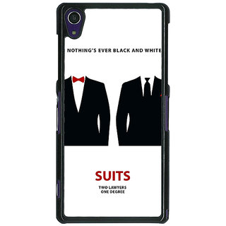 1 Crazy Designer SUITS Harvey Spector Mike Ross Back Cover Case For Sony Xperia Z1 C470490
