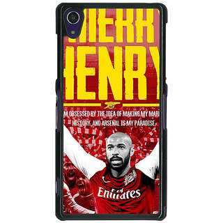 1 Crazy Designer Arsenal Therry Henry Back Cover Case For Sony Xperia Z1 C470502