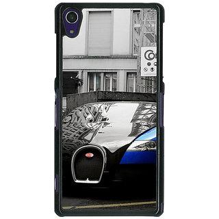 1 Crazy Designer Super Car Bugatti Back Cover Case For Sony Xperia Z1 C470627