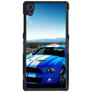 1 Crazy Designer Super Car Mustang Back Cover Case For Sony Xperia Z1 C470632