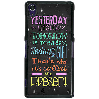 1 Crazy Designer Happiness Quote Back Cover Case For Sony Xperia Z1 C470814
