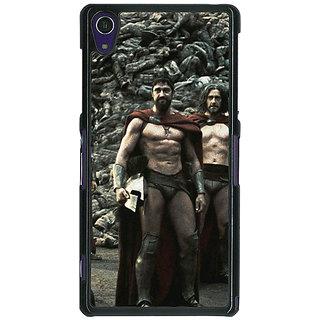 1 Crazy Designer King Leonidas Spartan Back Cover Case For Sony Xperia Z1 C470839