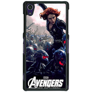1 Crazy Designer Super Heroes Avengers Age of Ultron Back Cover Case For Sony Xperia Z1 C470843