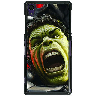 1 Crazy Designer Super Heroes Hulk Age of Ultron Back Cover Case For Sony Xperia Z1 C470845