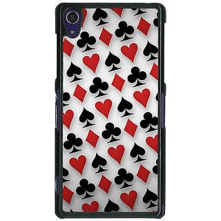 1 Crazy Designer Club Spade Diamond Heart  Back Cover Case For Sony Xperia Z1 C470856