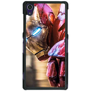 1 Crazy Designer Superheroes Ironman Back Cover Case For Sony Xperia Z1 C470864