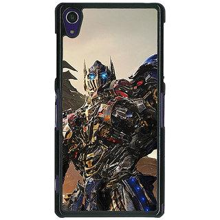 1 Crazy Designer Transformers Optimus Prime Back Cover Case For Sony Xperia Z1 C470871