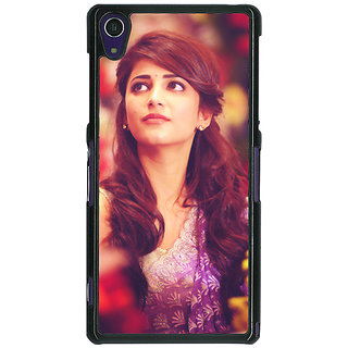 1 Crazy Designer Bollywood Superstar Shruti Hassan Back Cover Case For Sony Xperia Z1 C471074