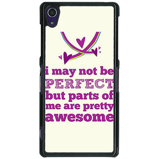 1 Crazy Designer Quote Back Cover Case For Sony Xperia Z1 C471355