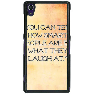1 Crazy Designer Quote Back Cover Case For Sony Xperia Z1 C471357