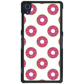1 Crazy Designer Donut Pattern Back Cover Case For Sony Xperia Z1 C471384