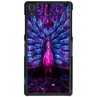1 Crazy Designer Paisley Beautiful Peacock Back Cover Case For Sony Xperia Z1 C471600