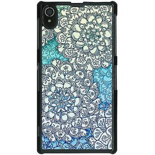 1 Crazy Designer Floral Blue Pattern Back Cover Case For Sony Xperia Z2 C480228