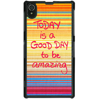 1 Crazy Designer Good Day Pattern Back Cover Case For Sony Xperia Z2 C480232