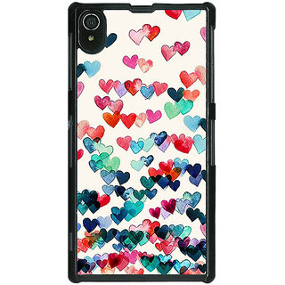 1 Crazy Designer Hearts in the Air Pattern Back Cover Case For Sony Xperia Z2 C480234