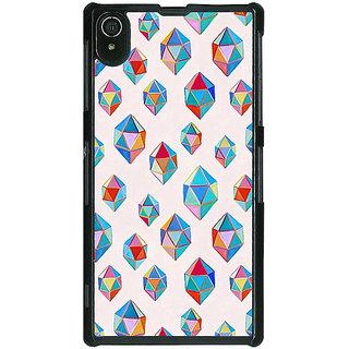 1 Crazy Designer Diamonds of Dreams Pattern Back Cover Case For Sony Xperia Z2 C480251