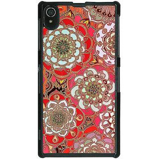1 Crazy Designer Orange Flowers Pattern Back Cover Case For Sony Xperia Z2 C480258