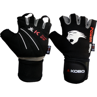 Kobo Weight Lifting Fitness Gym Gloves With Wrist Support