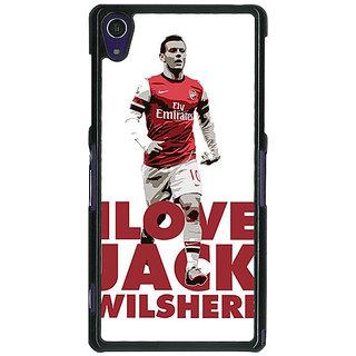 1 Crazy Designer Arsenal Jack Wilshere Back Cover Case For Sony Xperia Z1 C470520