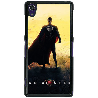 1 Crazy Designer Superheroes Superman Back Cover Case For Sony Xperia Z1 C470877