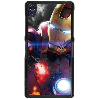1 Crazy Designer Superheroes Ironman Back Cover Case For Sony Xperia Z1 C470882