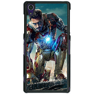 1 Crazy Designer Superheroes Ironman Back Cover Case For Sony Xperia Z1 C470886