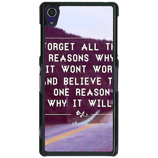 1 Crazy Designer Wise Quote Back Cover Case For Sony Xperia Z1 C471158