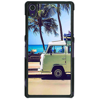 1 Crazy Designer Summer Van Back Cover Case For Sony Xperia Z1 C471160