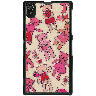 1 Crazy Designer Teddy Pattern Back Cover Case For Sony Xperia Z2 C480263