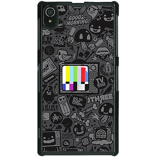 1 Crazy Designer Colour TV Back Cover Case For Sony Xperia Z2 C480835