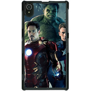 1 Crazy Designer Super Heroes Avengers Age of Ultron Back Cover Case For Sony Xperia Z2 C480844