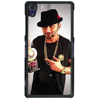 1 Crazy Designer Bollywood Superstar Honey Singh Back Cover Case For Sony Xperia Z1 C471180