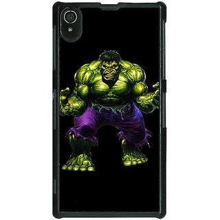 1 Crazy Designer Superheroes Hulk Back Cover Case For Sony Xperia Z2 C480327