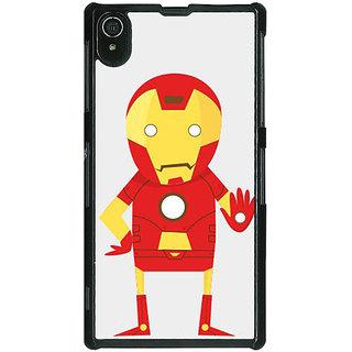 1 Crazy Designer Superheroes Iron Man Back Cover Case For Sony Xperia Z2 C480329