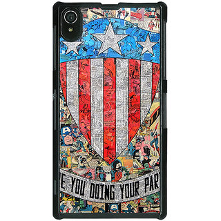 1 Crazy Designer Superheroes Captain America Back Cover Case For Sony Xperia Z2 C480333