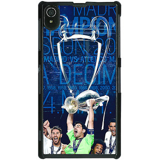 1 Crazy Designer Real Madrid La Decima Back Cover Case For Sony Xperia Z2 C480597