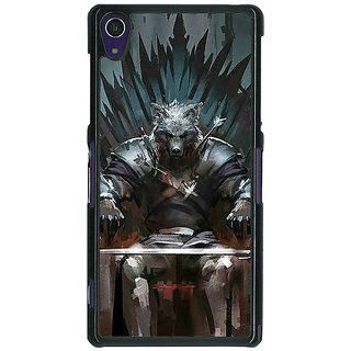 1 Crazy Designer Game Of Thrones GOT Iron Throne King Of The North Back Cover Case For Sony Xperia Z1 C471533
