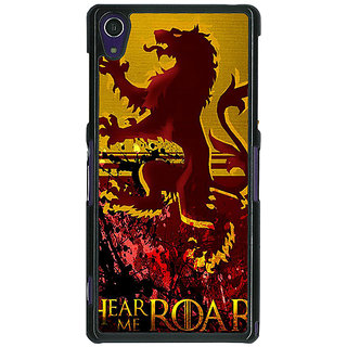 1 Crazy Designer Game Of Thrones GOT House Lannister Back Cover Case For Sony Xperia Z1 C471540