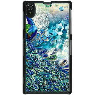 1 Crazy Designer Peacock Canvas Back Cover Case For Sony Xperia Z2 C480796