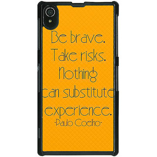1 Crazy Designer Quote Back Cover Case For Sony Xperia Z2 C481354