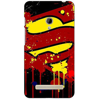 1 Crazy Designer Superheroes Superman Back Cover Case For Asus Zenfone 5 C490034